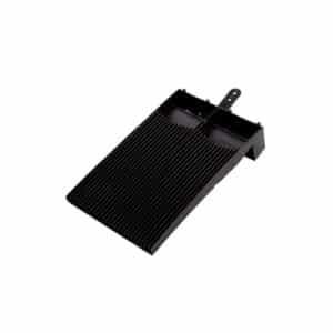 Flush Fit Plain Roof Tile Vent - Black