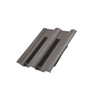 Double Roman Tile Vent - Slate Grey