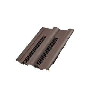 Hambleside Danelaw Double Roman Tile Vent - Brown