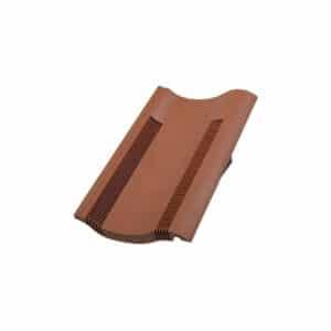 Single Pantile Flush Fit Roof Tile Vent Terracotta