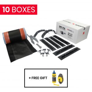 10 x ERidge Dry Fix Ridge System - 6m Kit Black + Free Stanley Chalk Line Set 30m