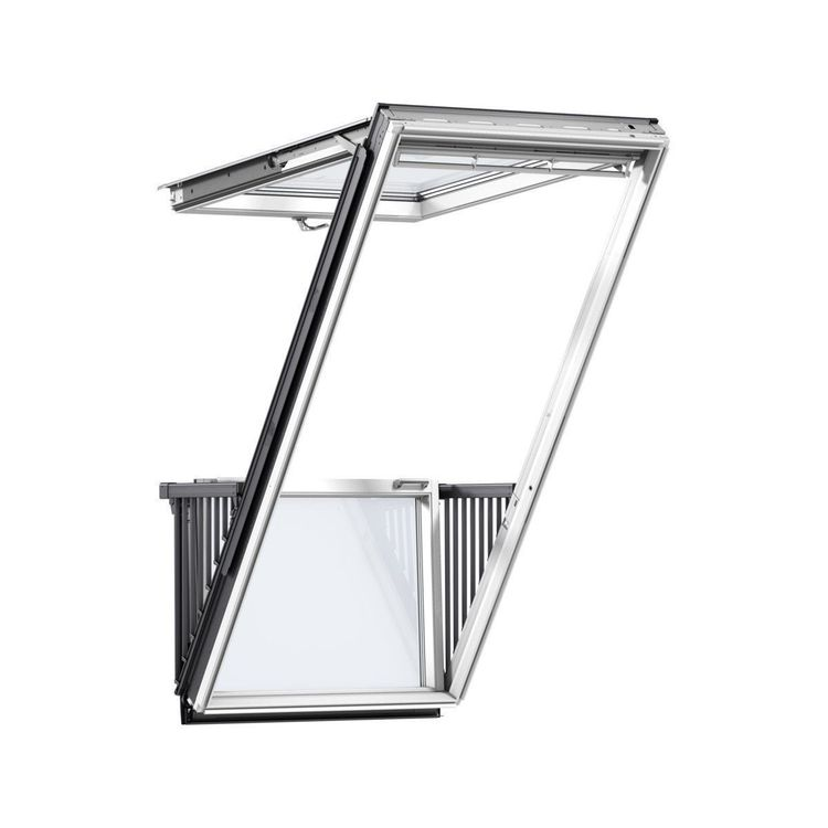VELUX GDL SK19 SD0L001 White Painted Cabrio® Balcony ...