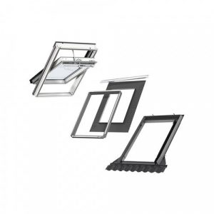 VELUX GGU MK04 S20W03 Triple INTEGRA Tile Roof Window Bundle