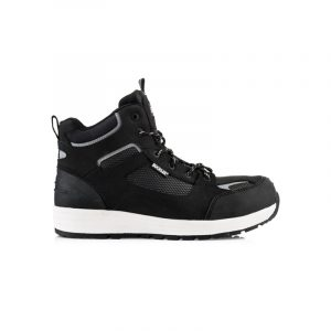 Safety Boot Black and White Leather