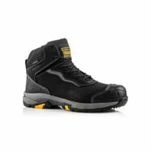 Buckbootz BLITZ Lightweight Waterproof Black Safety Lace Boot