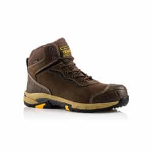 Buckbootz BLITZ Lightweight Waterproof Brown Safety Lace Boot