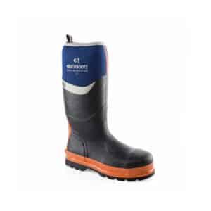 Buckbootz Neoprene Safety Wellington - Blue/orange