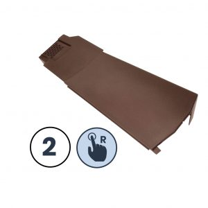 2 x Right Hand Klober Contract Dry Verge Unit, Brown