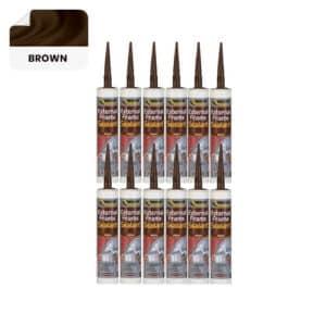 12 x Everbuild External Frame Sealant, Brown – 290ml