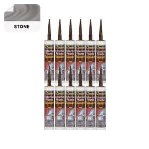 12 x Everbuild External Frame Sealant, Stone – 290ml
