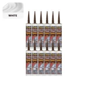 12 x Everbuild External Frame Sealant, White – 290ml