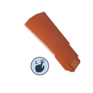 Left Hand Klober Uni-Click Dry Verge Units, Terracotta
