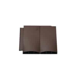Klober Brown Twin Plain Tile Vent