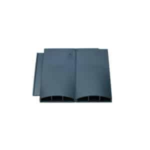 Grey twin plain tile vent