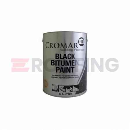Cromar Black Bitumen Paint - 25 Litre